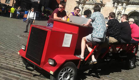 Party Bike (Beer Bike) is a great Stag Party activity in Riga
