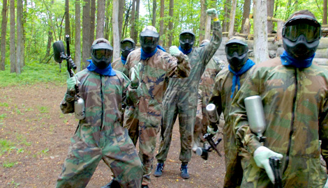 Paintball is a great Stag Party activity in Riga