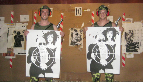Firearms Mega Shooting is a great Stag Party activity in Riga