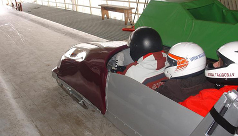 Olympic Bobsleigh is a great Stag Party activity in Riga