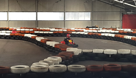 Indoor Karting10 min is a great Stag Party activity in Riga