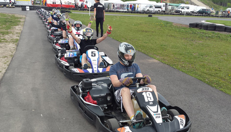 Outdoor Karting is a great Stag Party activity in Riga