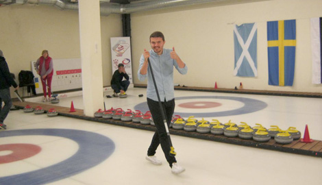 Curling is a great Stag Party activity in Riga